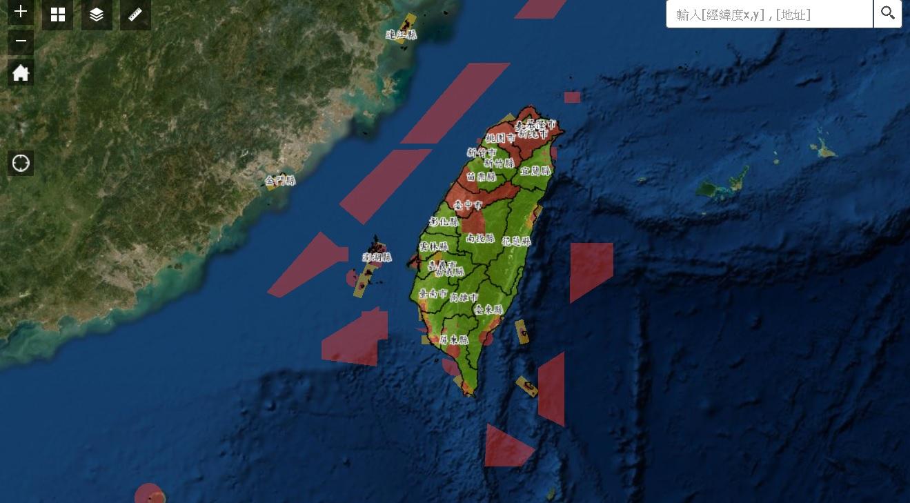 ▲國內無人機禁限航空域分布(03/24更新)/翻攝自民航局網站