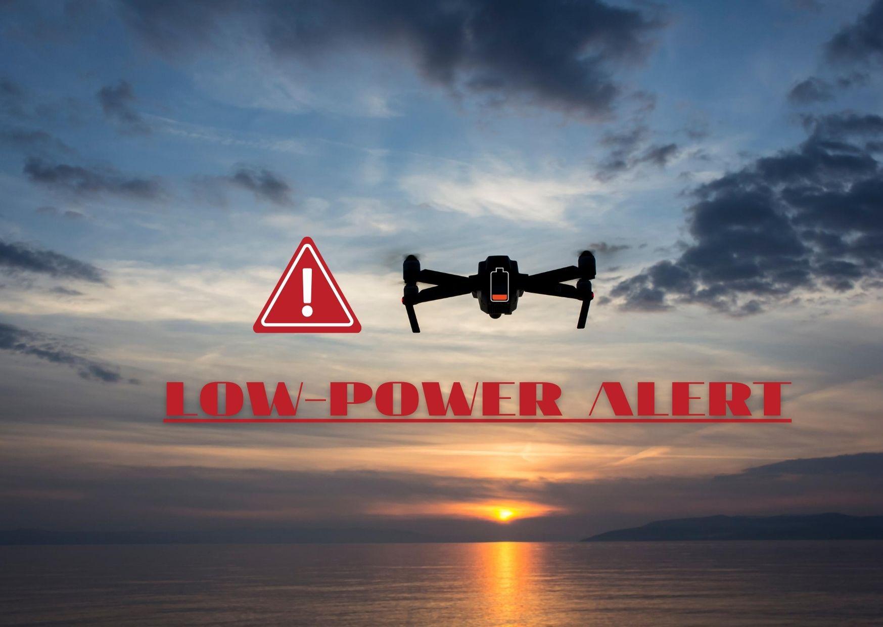 空拍機電池低電量警報